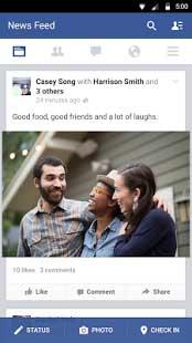 Tải Facebook miễn phí về cho máy điện thoại Android 2